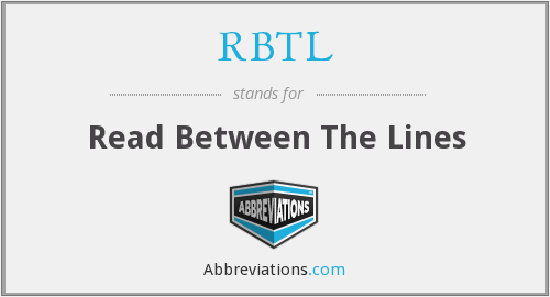 RBTL - Read Between The Lines