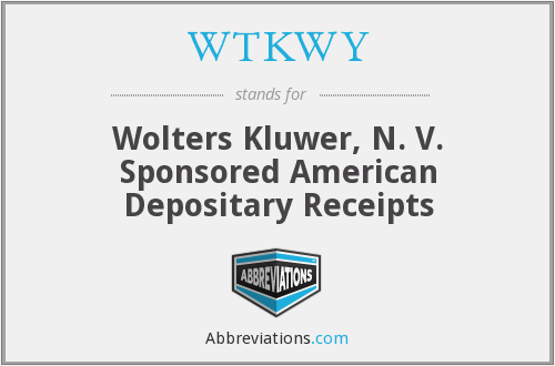WTKWY - Wolters Kluwer, N. V. Sponsored American Depositary Receipts