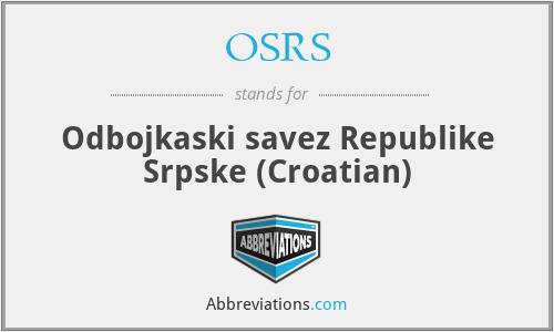 OSRS - Odbojkaski savez Republike Srpske (Croatian)