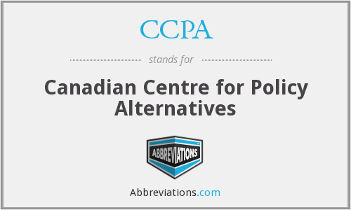 CCPA - Canadian Centre for Policy Alternatives