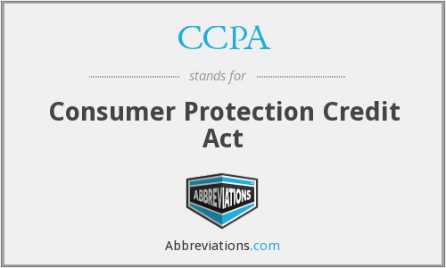 CCPA - Consumer Protection Credit Act