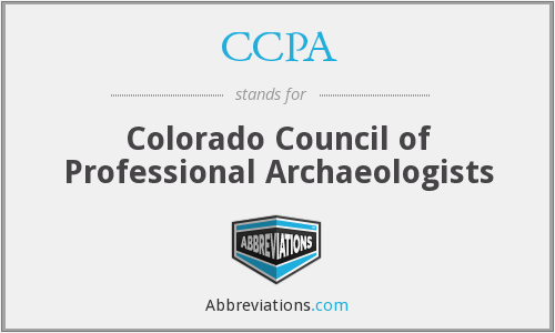 CCPA - Colorado Council of Professional Archaeologists