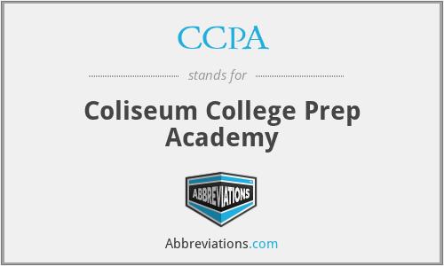 CCPA - Coliseum College Prep Academy