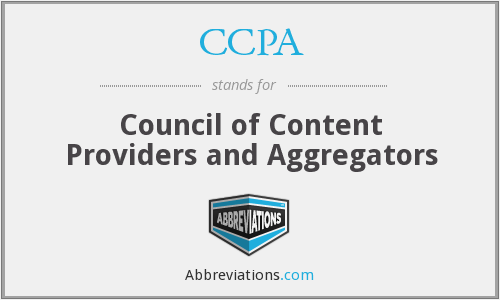 CCPA - Council of Content Providers and Aggregators
