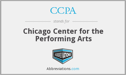 CCPA - Chicago Center for the Performing Arts