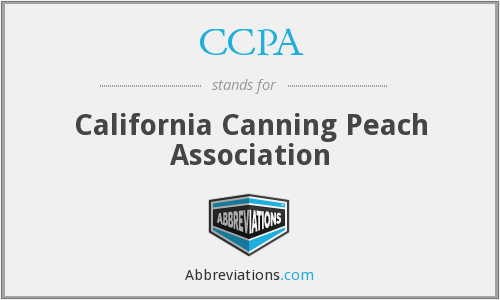 CCPA - California Canning Peach Association