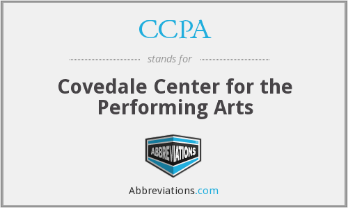 CCPA - Covedale Center for the Performing Arts