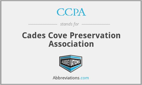 CCPA - Cades Cove Preservation Association