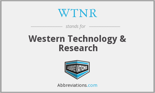 What does WTNR stand for?