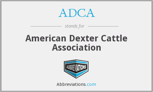 ADCA - American Dexter Cattle Association