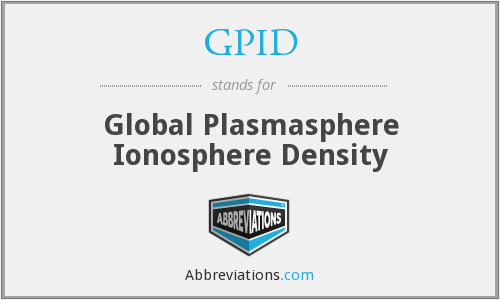 GPID - Global Plasmasphere Ionosphere Density