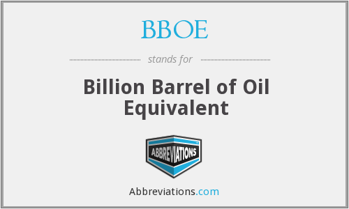 BBOE - Billion Barrel of Oil Equivalent