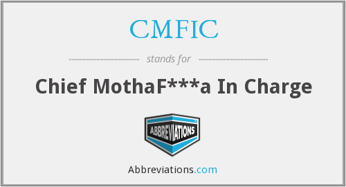 CMFIC - Chief MothaF***a In Charge