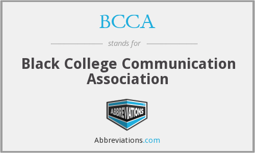 BCCA - Black College Communication Association