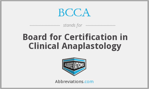 BCCA - Board for Certification in Clinical Anaplastology