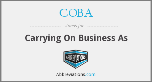 What does COBA stand for?
