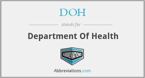 DOH - Department Of Health
