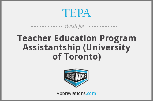 TEPA - Teacher Education Program Assistantship (University of Toronto)