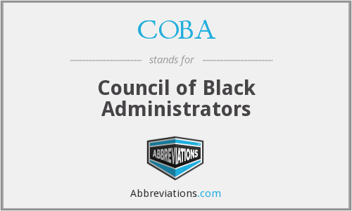 COBA - Council of Black Administrators