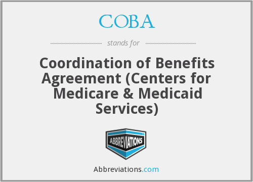 COBA - Coordination of Benefits Agreement (Centers for Medicare & Medicaid Services)