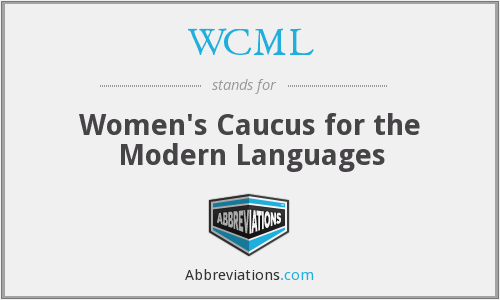 WCML - Women's Caucus for the Modern Languages
