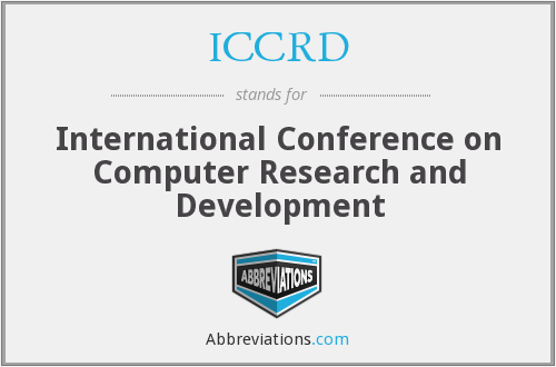 What does ICCRD stand for?