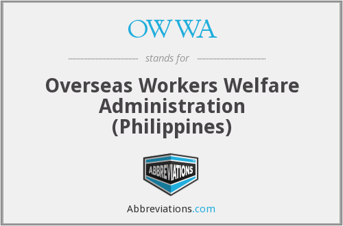 OWWA - Overseas Workers Welfare Administration (Philippines)