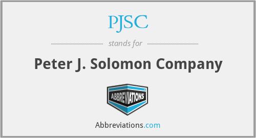 PJSC - Peter J. Solomon Company
