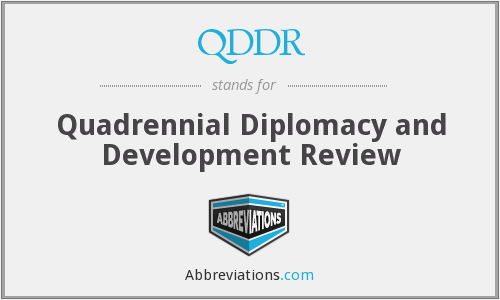 QDDR - Quadrennial Diplomacy and Development Review