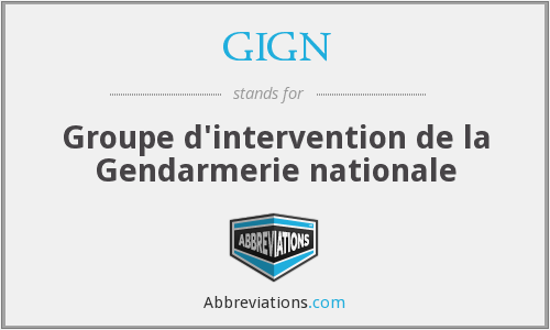 What does GIGN stand for?