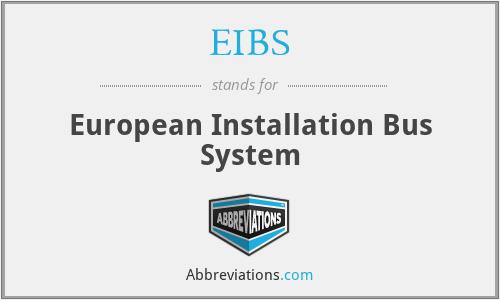 EIBS - European Installation Bus System