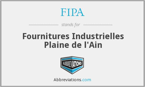 FIPA - Fournitures Industrielles Plaine de l'Ain