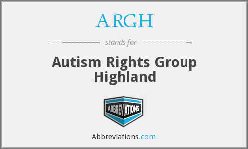 ARGH - Autism Rights Group Highland