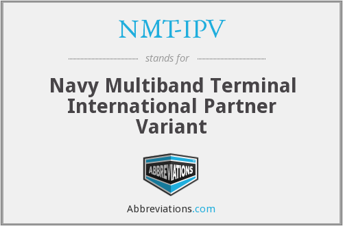 What does NMT-IPV stand for?