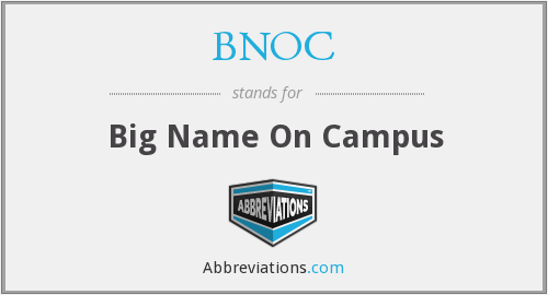 BNOC - Big Name On Campus