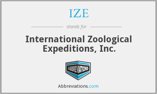 IZE - International Zoological Expeditions, Inc.