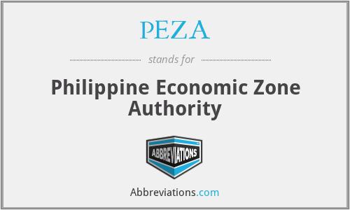PEZA - Philippine Economic Zone Authority