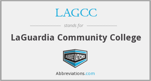 What does LAGCC stand for?