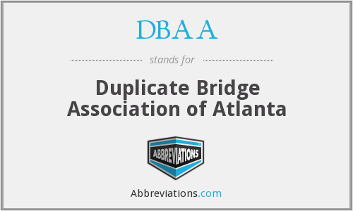 DBAA - Duplicate Bridge Association of Atlanta