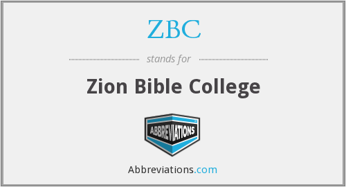 ZBC - Zion Bible College
