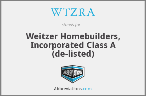 What does WTZRA stand for?
