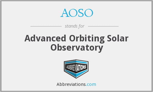 What does AOSO stand for?