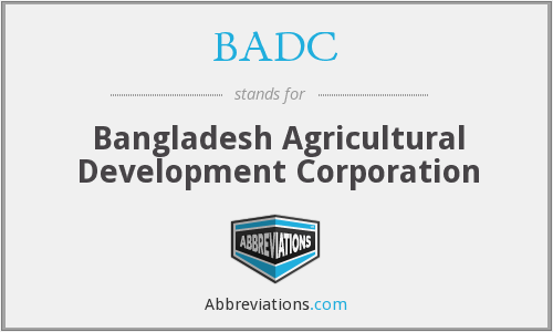 BADC - Bangladesh Agricultural Development Corporation