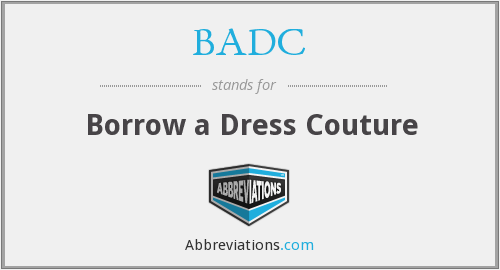 BADC - Borrow a Dress Couture