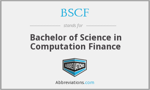 BSCF - Bachelor of Science in Computation Finance