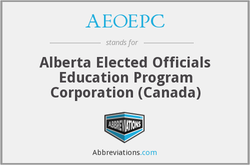 AEOEPC - Alberta Elected Officials Education Program Corporation (Canada)