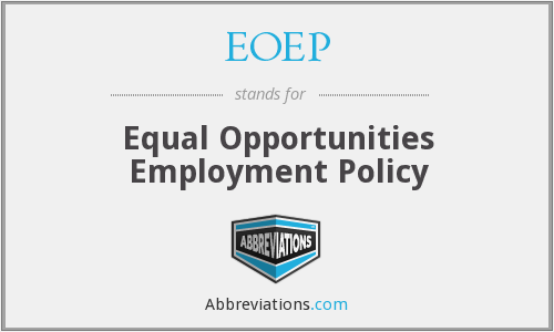 EOEP - Equal Opportunities Employment Policy