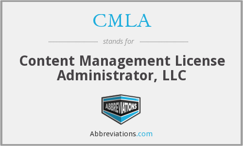 CMLA - Content Management License Administrator, LLC
