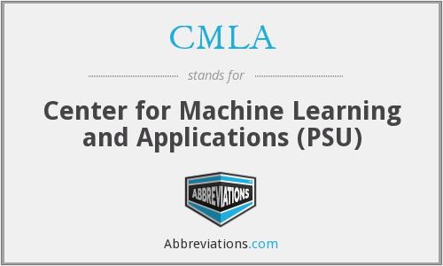 CMLA - Center for Machine Learning and Applications (PSU)