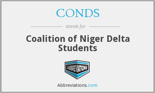 CONDS - Coalition of Niger Delta Students